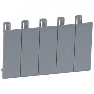Набор из 5 заглушек - для Plexo³ - разделяемая - серый R746A