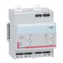 Дистанционно управляемый светорегулятор - для люминесцентных ламп с электорнными баластами 1-10 В - 1000 ВА - 4 модуля