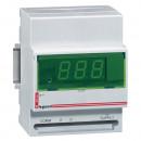Цифровой амперметр/вольметр - 0-500 В - монтаж на рейке DIN
