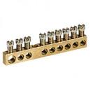 Клеммная колодка - крепятся винтами М4 - 1 x 6-25 мм² - 14 x 1,5-16 мм² - длина 122 мм