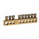 Клеммная колодка - крепятся винтами М4 - 1 x 6-25 мм² - 24 x 1,5-16 мм² - длина 192 мм