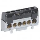 Клеммная колодка IP 2X - фаза - черная - 1 x 6-25 мм² - 5 x 1,5-16 мм² - длина 62 мм