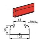 Кабель-канал DLP 50x105 1 секция 1 крышка 65 мм длина 2 м белый (цена за 1 метр)