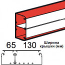 Кабель-канал DLP 65x220 2 или 3 секции длина 2 м белый (цена за 1 метр)