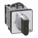 Переключатель электроизмерительных приборов - для амперметра - PR 12 - 6 контактов - 3 ТТ - крепление на дверце
