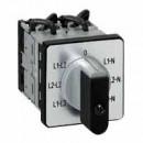 Переключатель электроизмерительных приборов - для вольтметра - PR 12 - 4 контакта - с нейтралью - крепление на дверце