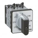 Переключатель электроизмерительных приборов - для вольтметра - PR 12 - 6 контактов - без нейтрали - крепление на дверце
