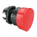 Кнопка с грибовидным толкателем ∅ 40 - Osmoz - возврат-поворот - экстр. откл. - без подсв. - IP 66 - красный