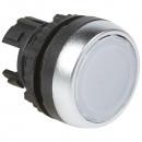 Головка с пружинным возвратом ∅ 22,3 - Osmoz - для комплектации - с подсветкой - с потайным толкателем - белый