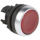 Головка с пружинным возвратом ∅ 22,3 - Osmoz - для комплектации - с подсветкой - с потайным толкателем - красный
