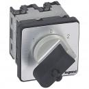 Переключатель на 2 направления - с положением ''0'', 45° - PR 12 - 1П - 2 контакта - крепление на дверце