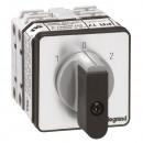 Переключатель на 2 направления - с положением ''0'', 45° - PR 17 - 2П - 4 контакта - крепление на дверце