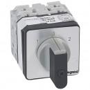 Переключатель на 2 направления - с положением ''0'', 45° - PR 21 - 2П - 4 контакта - крепление на дверце