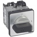 Трехпозиционный переключатель без положения ''0'' - PR 12 - 1П - 3 контакта - крепление на дверце