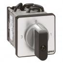 Трехпозиционный переключатель с положением ''0'' - PR 12 - 2П - 6 контактов - крепление на дверце