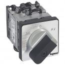 Переключатель трехфазного электродвигателя - реверсивный односкоростной - PR 12 - 5 контактов - крепление на дверце