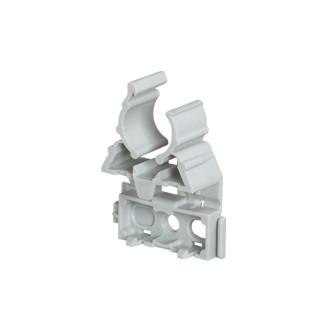 Фиксатор для гибких и жестких труб IRL ∅ 16 - серый (комплект 100 шт.)