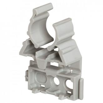 Фиксатор для гибких и жестких труб IRL ∅ 20 - серый (комплект 100 шт.)