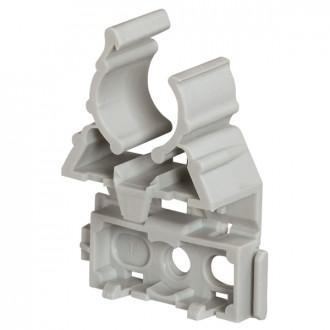 Фиксатор для гибких и жестких труб IRL ∅ 25 - серый (комплект 100 шт.)