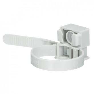 Хомут с монтажным основанием - для монтажа внутри помещений - для труб от ∅ 16 до 32 - серый RAL 7035 (комплект 100 шт.)