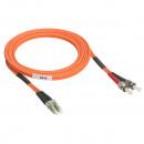 Оптоволоконный шнур OM 2 - многомодовый - LC/ST - длина 2 м (комплект 3 шт.)