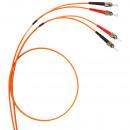 Оптоволоконный шнур OM 2 - многомодовый - ST/ST - длина 1 м (комплект 3 шт.)