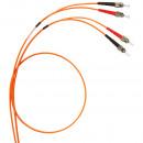 Оптоволоконный шнур OM 2 - многомодовый - ST/ST - длина 2 м (комплект 3 шт.)