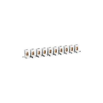 Соеденитель проходной - 10 разделяемых клемм - сечение 2x16 мм² - ширина 21 мм (комплект 10 шт.)