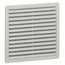 Пластмассовая вентиляционная решетка - RAL 7035 - фильтр EN 779, G3 - IP 54 - 150x150 мм