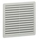 Пластмассовая вентиляционная решетка - RAL 7035 - фильтр EN 779, G3 - IP 54 - 250x250 мм