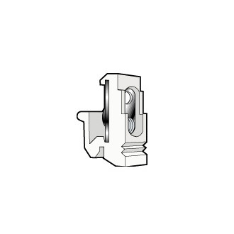 Fixocap под винты M5 для реек EN 60715 ассиметричных - черный (комплект 100 шт.)
