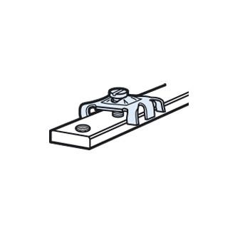 Соединитель для шин 12 x 4 мм с нарезанными отверстиями (комплект 100 шт.)