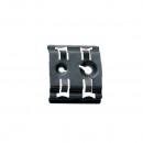 Внешний фиксатор для реек EN 60715 - ширина 35 мм - отверстия под винты M4 и M6