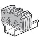Торцевая крышка Viking 3 - для пружинных клемм - с шагом 5 мм - двухъярусных