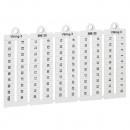 Листы с этикетками для клеммных блоков Viking 3 - горизонтальный формат - шаг 6 мм - цифры от 1 до 100