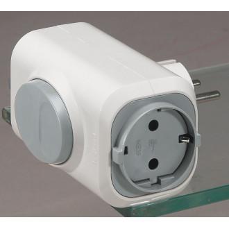 Розетка 2х2К+З 16А с кнопкой выталкивания белая, серия Элиум (комплект 5 шт.)