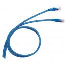 Коммутационный шнур RJ 45 - категория 6 - F/UTP - PVC - экранированный - 3 м - голубой