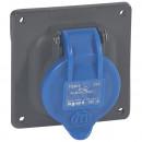 Встраиваемая розетка Hypra - IP 44 - 16 А - пластик (комплект 5 шт.)