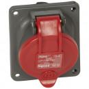 Встраиваемая розетка Hypra - IP 44 - 3 контакта  - 16 А - пластик (комплект 5 шт.)