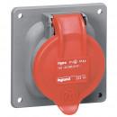 Встраиваемая розетка Hypra - IP 44 - 3 контакта  - 63 А - пластик