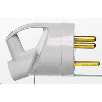 Вилка 2К+З 20А с кольцом (комплект 10 шт.)
