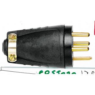 Вилка резиновая 3К+З 20А (комплект 5 шт.)