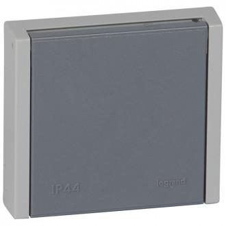 Розетка 20 A - Программа Plexo - 3К+Н+3 - 400 В - IP 44-IK 08 - для встроенного монтажа - серый (комплект 10 шт.)