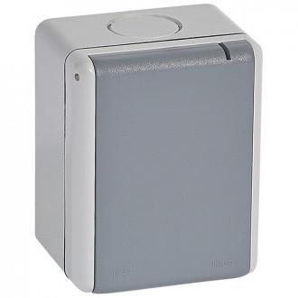 Розетка 32 A - Программа Plexo - 3К+3 - 400 В - IP 55-IK 08 - для накладного монтажа - серый (комплект 5 шт.)