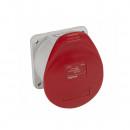 Встраиваемая прямая розетка суменьшенным фланцем - P17 Tempra Pro - IP 44 - 380/415 В~ - 16 A - 3К+Н+З