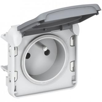 Розетка  - с защитой - безвинт. зажимы - французский стандарт - Программа Plexo - серый - 16 A - 250 В (комплект 10 шт.)