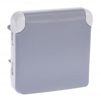 Розетка  - с защитой - с винтовыми зажимами - французский стандарт - Программа Plexo - серый - 16 A - 250 В (комплект 10 шт.)