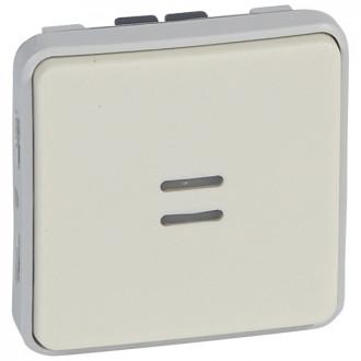Однополюсный переключатель на два направления с индикацией - Программа Plexo - белый - 10 AX (комплект 5 шт.)