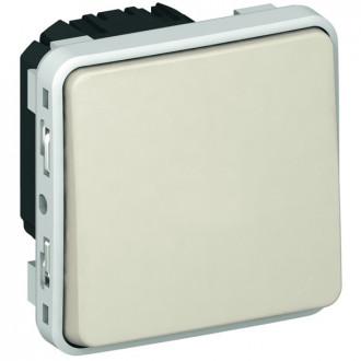 Кнопочный выключатель (Н.О.+Н.З. контакты) - Программа Plexo - белый - 10 A (комплект 5 шт.)