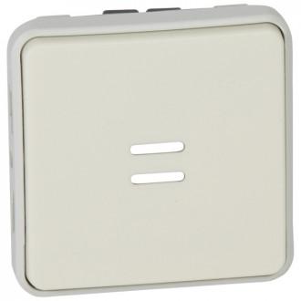 Кнопочный выключатель с подсветкой, Н.О. контакт - Программа Plexo - белый - 10 A (комплект 5 шт.)